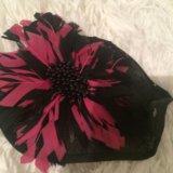 Шляпа для украшения волос из натуральных перей. Фото 2.