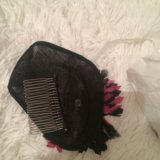 Шляпа для украшения волос из натуральных перей. Фото 3.