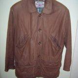 Куртка мужская кожаная нубук 48 размер. италия. Фото 1.