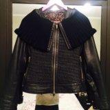 Утеплённая кожаная куртка на холодную осень. Фото 1.
