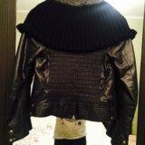 Утеплённая кожаная куртка на холодную осень. Фото 3.