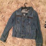 Джинсовый пиджак. Фото 3.
