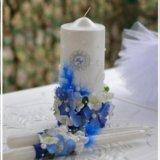 Свечи и фужеры на свадьбу. Фото 2.