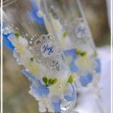 Свечи и фужеры на свадьбу. Фото 3.