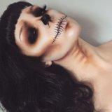 Макияж на хеллоуин, вечерний дневной pin up макияж. Фото 2.