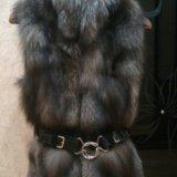 Меховая жилетка из чернобурки. Фото 2.