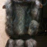 Меховая жилетка из чернобурки. Фото 4.