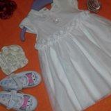 Платье шикарное и тапочки для девочки. Фото 1. Москва.