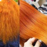 Кератиновое выпрямление/ламинирование волос. Фото 1.
