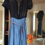 Сине - голубое платье. Фото 1.