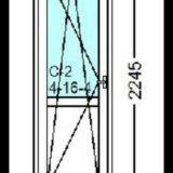 Балконная дверь rehau blitz 718x2245. Фото 1.