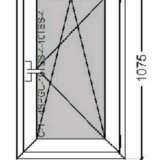 Окно rehau blitz с микропроветриванием 640x1075. Фото 1. Балаково.