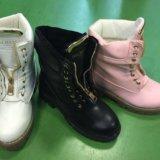 Зимние ботинки балмаин розовые. Фото 1.