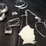 Серьги, кольца, подвески (7 предметов). Фото 1.