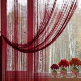 Нитяные шторы, 300х280, бордо. Фото 1.