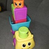 Машинка с кубиками fisher price. Фото 3.