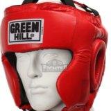 Шлем боксерский green hill, красный.. Фото 1.