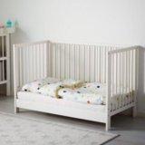 Детская кроватка+матрац, бортик, постельное. Фото 1.