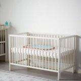 Детская кроватка+матрац, бортик, постельное. Фото 3.