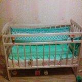 Детская кроватка+матрас+ботрики.. Фото 1.
