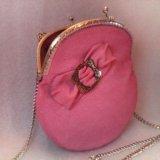 Розовая сумочка (кожа) hm. Фото 1.