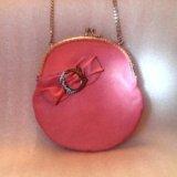 Розовая сумочка (кожа) hm. Фото 2.
