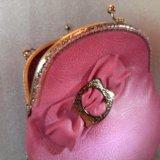 Розовая сумочка (кожа) hm. Фото 3.