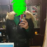 Кожаная куртка с мехом енота. Фото 1. Санкт-Петербург.