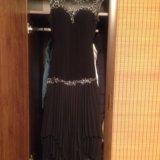 Вечернее платье эффектное с гипюровым лифом. Фото 2.