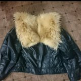 Кожаная куртка с мехом енота. Фото 2. Санкт-Петербург.