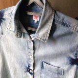 """Женская, джинсовая, рубашка """"lacoste l!ve"""". Фото 3."""