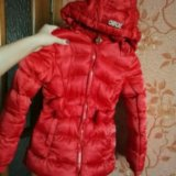 Теплая куртка на девочку 6-8лет. Фото 1. Омск.