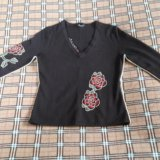 Французский пуловер с розами yuka тёплый. Фото 1. Санкт-Петербург.