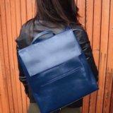 Женский рюкзак-сумка из натуральной кожи. Фото 3.