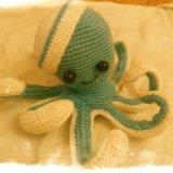 Игрушка вязаная осьминожек. Фото 1.