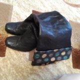Сапоги кожаные. Фото 1. Десногорск.