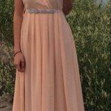 Персиковое платье в пол. Фото 4. Москва.