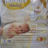 Подгузники huggies elite soft 2 (4-7 кг) 88 шт. Фото 1. Архангельск.