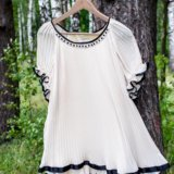 Платье гофрированное. Фото 1.