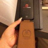 Кожаный чехол на айфон 5, 5 s. Фото 2.