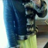 Кожаная утепленная куртка. Фото 2. Москва.