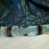 Кожаная утепленная куртка. Фото 4. Москва.