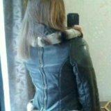 Кожаная утепленная куртка. Фото 3. Москва.