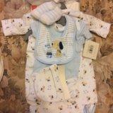 Набор из новых детских вещей для новорождённых. Фото 3.