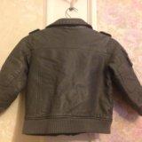 Кожаная осенняя куртка next. Фото 2.