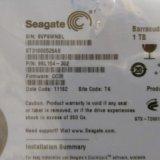 """Жесткий диск seagate 1tb 3,5"""". Фото 1. Москва."""