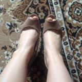 Туфли кожаные бежевые 38. Фото 4.