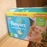 Подгузники pampers active baby dry 105 шт. Фото 1.