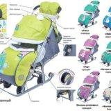 Санки-коляска новые. Фото 3.