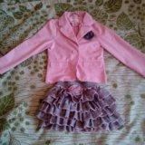 Юбка и пиджак на девочку. Фото 1.